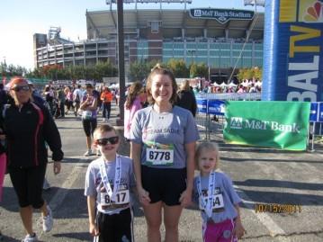 Carrie, Matt & Sarah at Team Sadie 2012